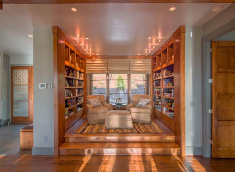 biblioteca en casa calido