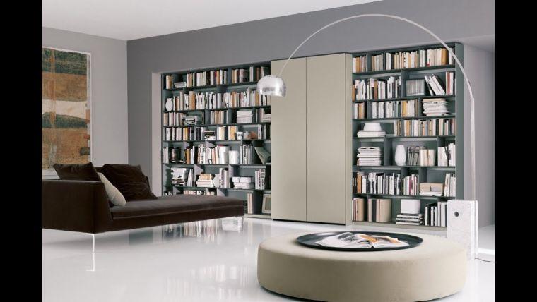 biblioteca en casa contemporanea