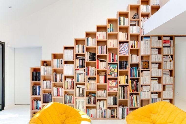 biblioteca en casa cuadros