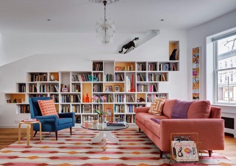 biblioteca en casa empotrado