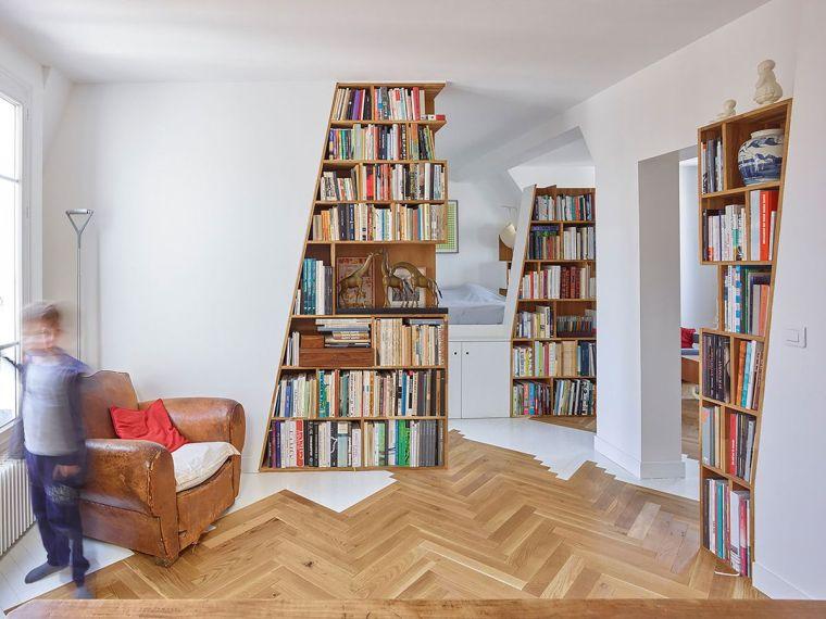 biblioteca en casa esquinas