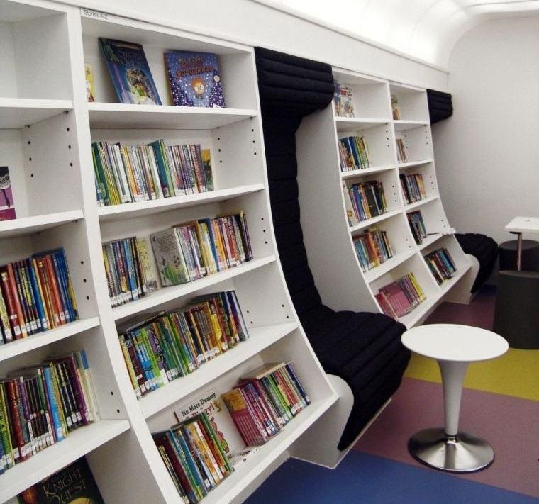biblioteca en casa estanteria