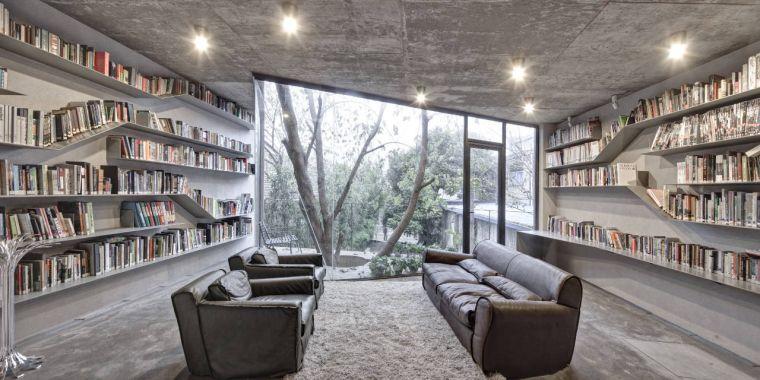 biblioteca en casa habitacion
