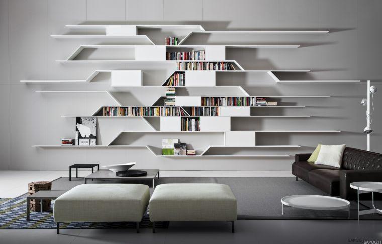biblioteca en casa minimalista