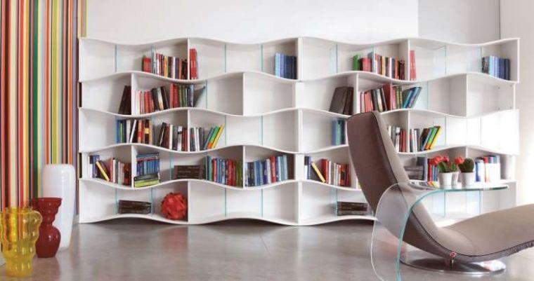 biblioteca en casa moderno