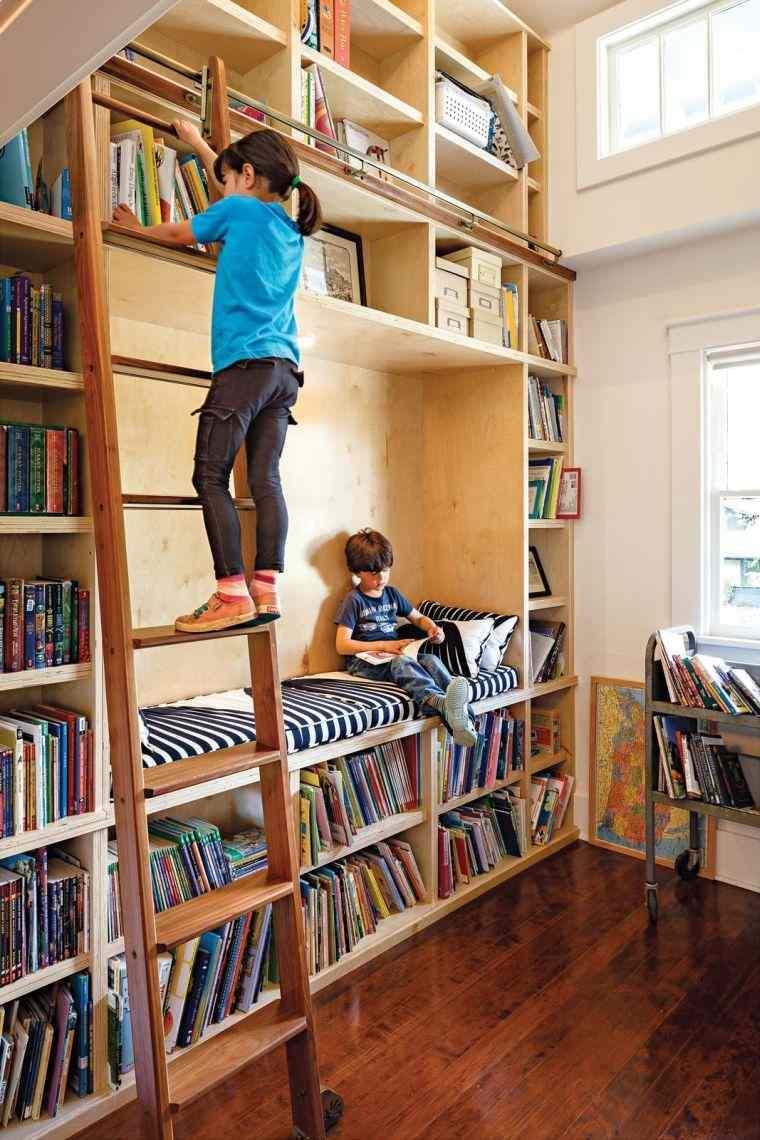 biblioteca en casa niños