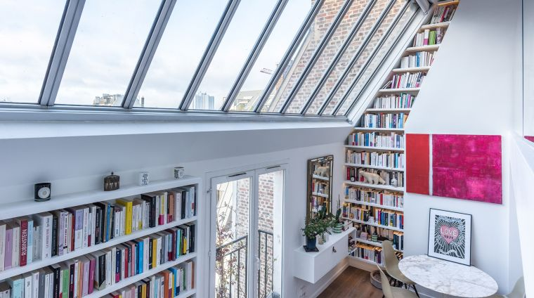 biblioteca en casa original