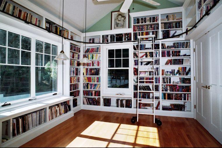 iblioteca en casa paredes