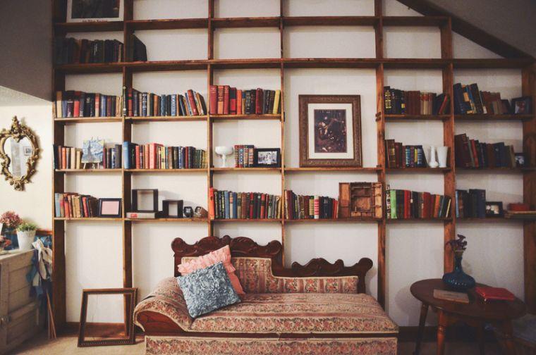 biblioteca en casa simple
