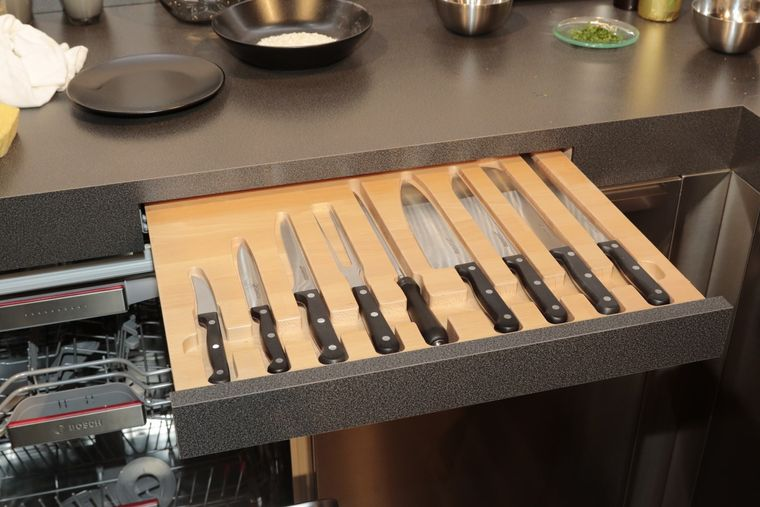 cajones de cocina cuchillos