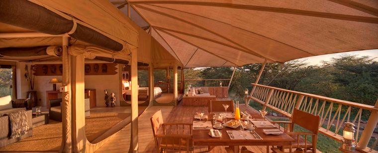 campamento itinerante terraza
