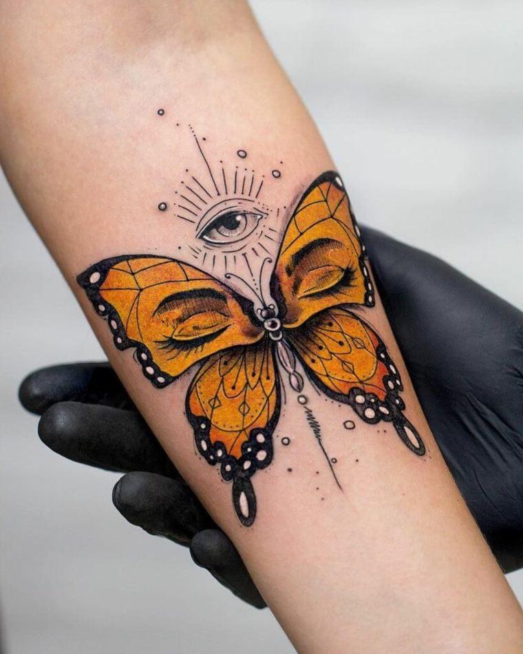 color-naranja-mariposa-estilo