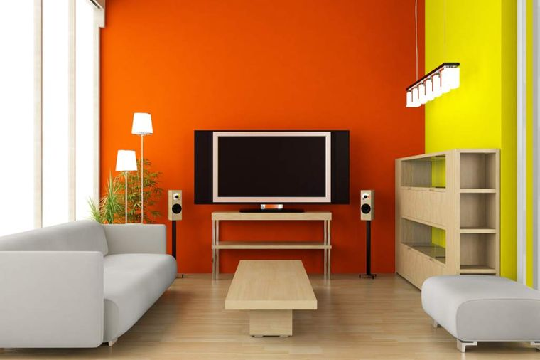 decoración de interiores naranja