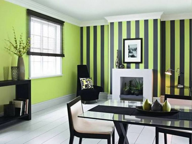 decoración de interiores verde