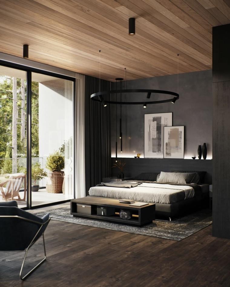 dormitorios de matrimonio 2020 -color-negro