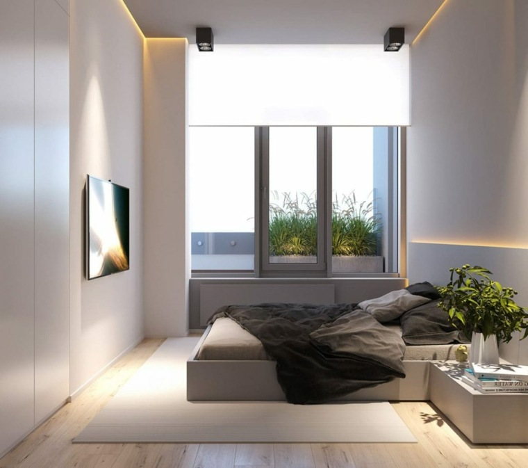 dormitorios de matrimonio 2020-minimalista-tendencia