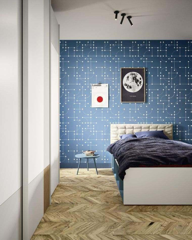 dormitorios-juveniles-diseno-pared-azul