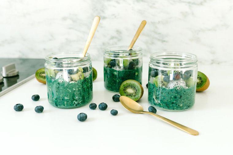 espirulina para adelgazar verde azul
