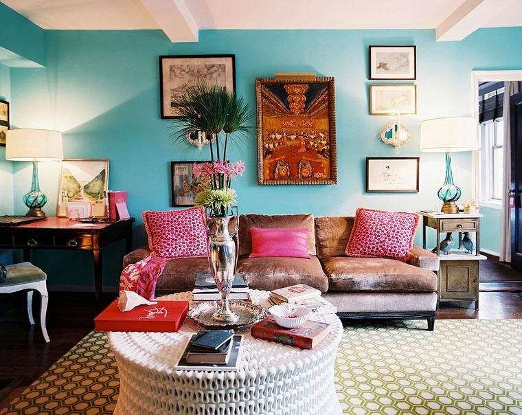 estilos de decoración bohemio azul