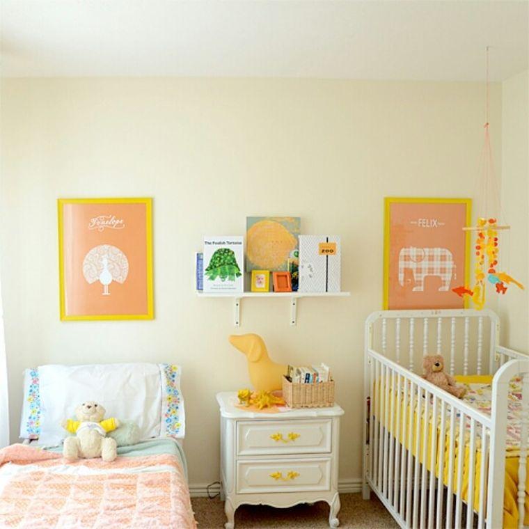 habitaciones compartidas amarillo