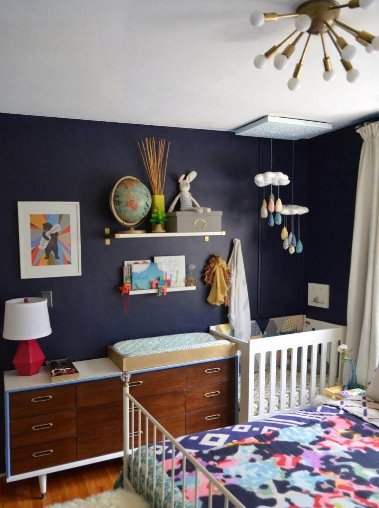 habitaciones compartidas azul fuerte
