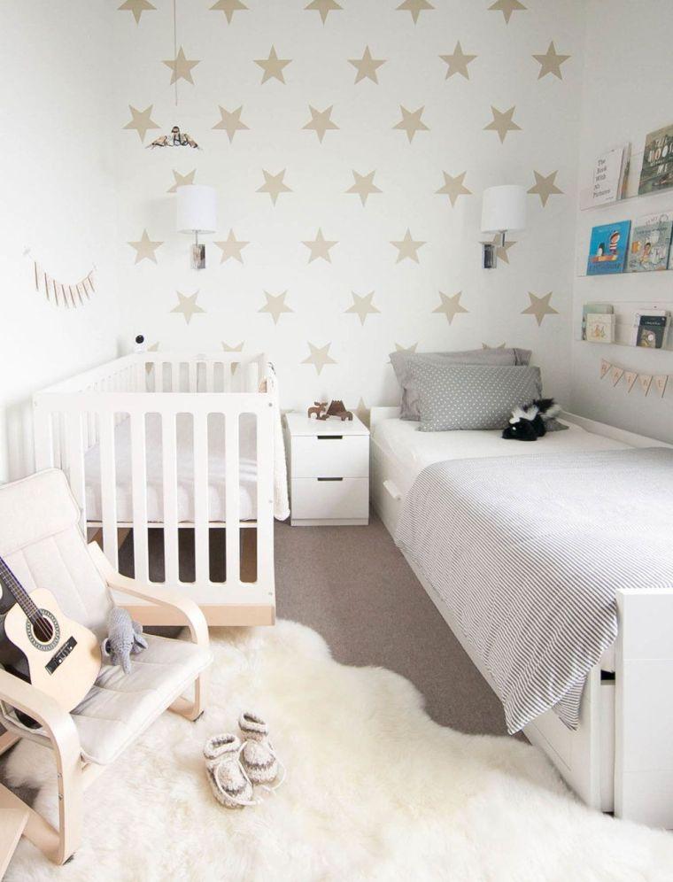 habitaciones compartidas blanco