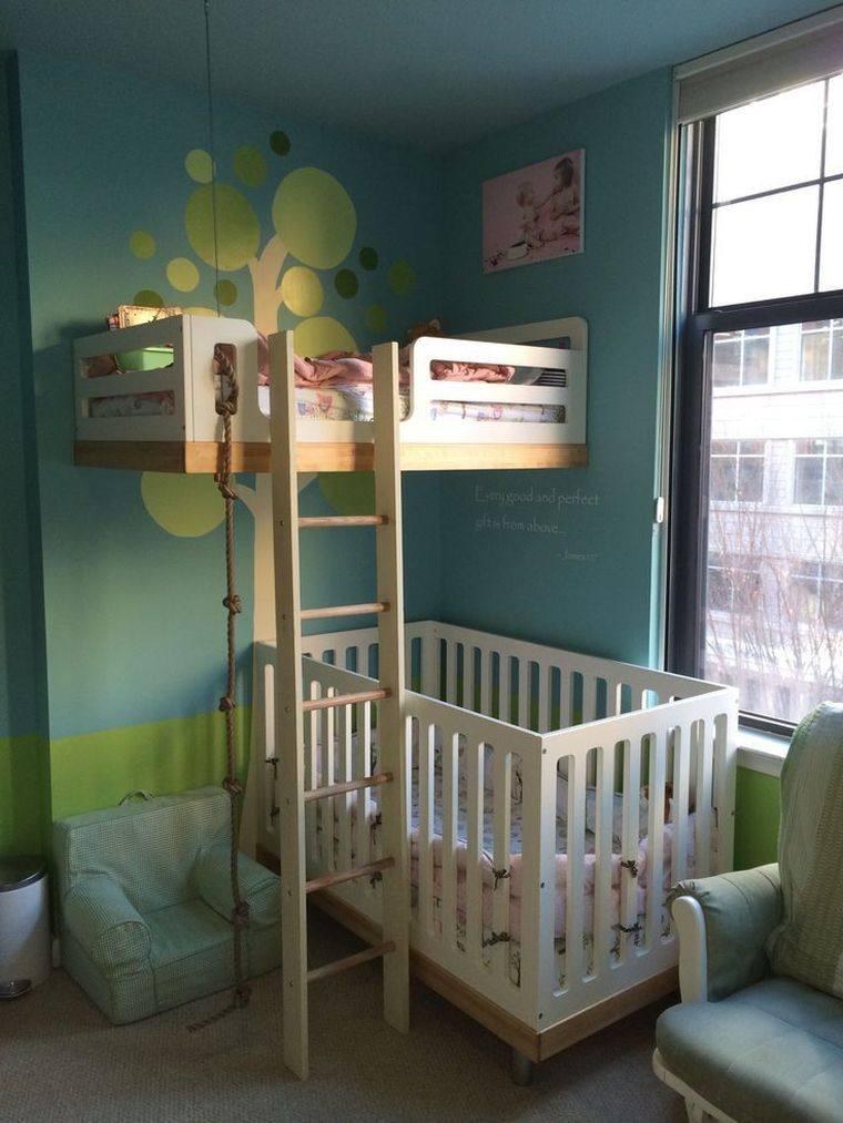 habitaciones compartidas cama alta