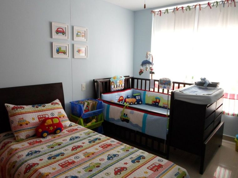 Habitaciones Compartidas Para Un Bebé Y Un Niño Pequeño