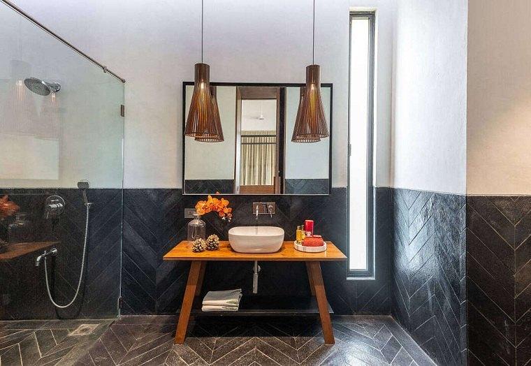 iluminacion-bano-lamparas-colgantes-lavabo