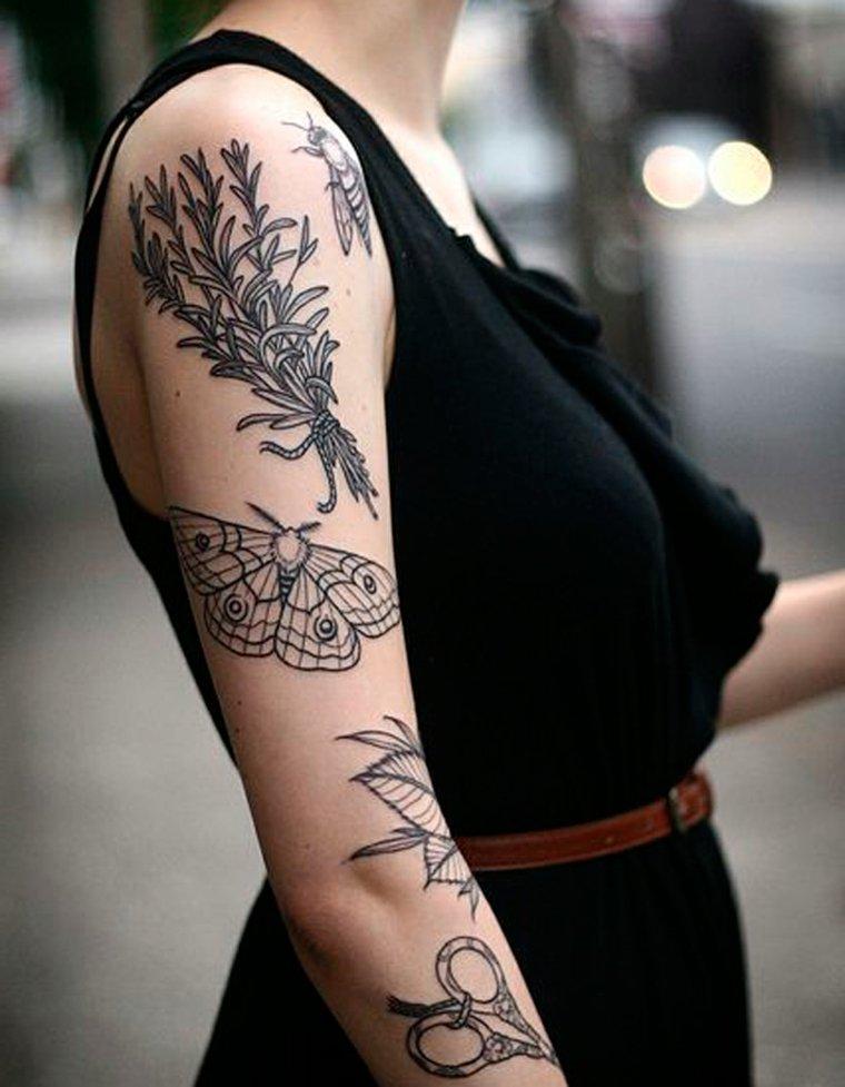 imagenes-tatuajes-mariposa-motivos-florales