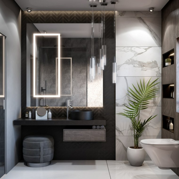 muebles-madera-color-negro-lavabo-bano-pared-blanca