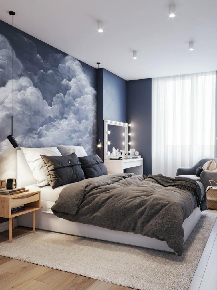 pared-azul-dormitorio
