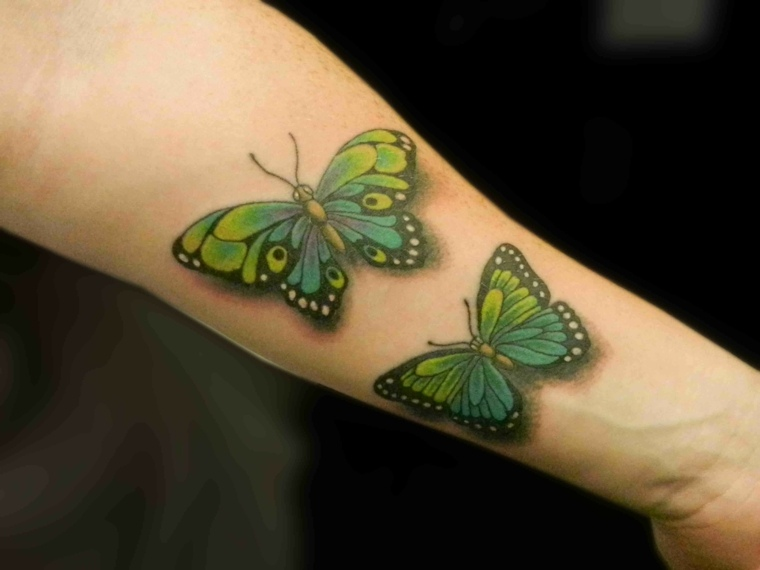 tatuaje-verdes-mariposas-ideas