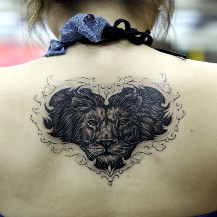 tatuajes de leones amor