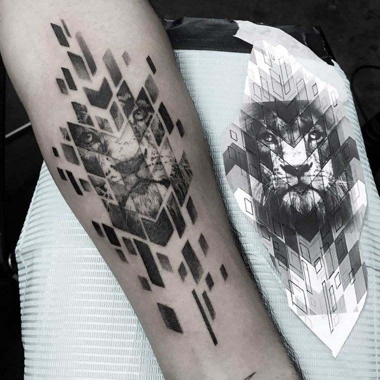 tatuajes de leones diferente