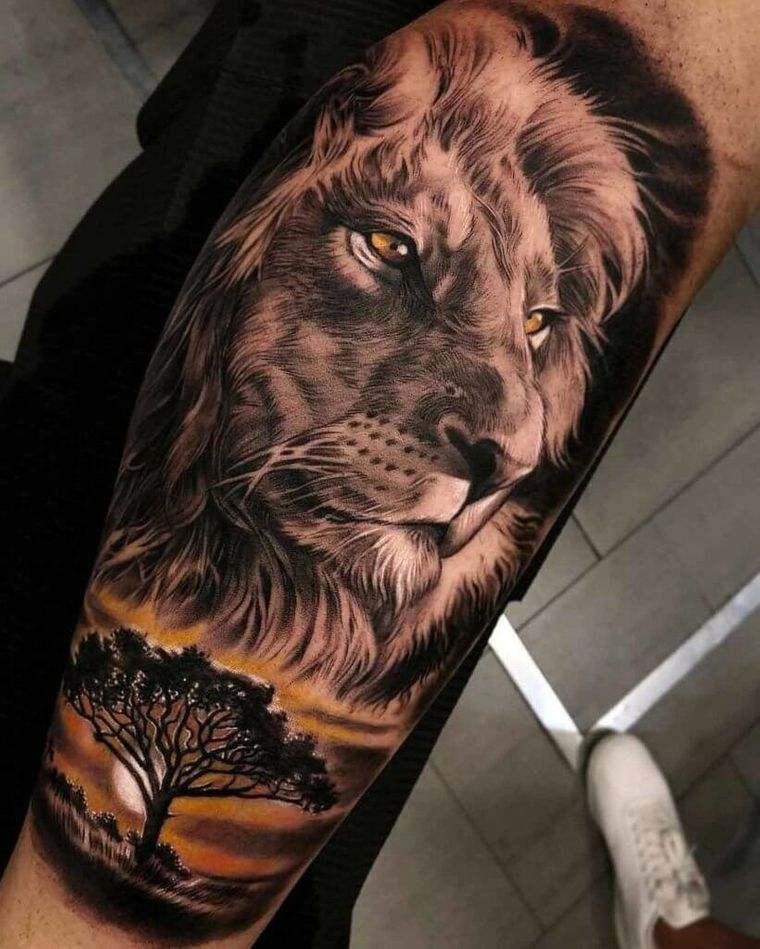 tatuajes de leones dominante