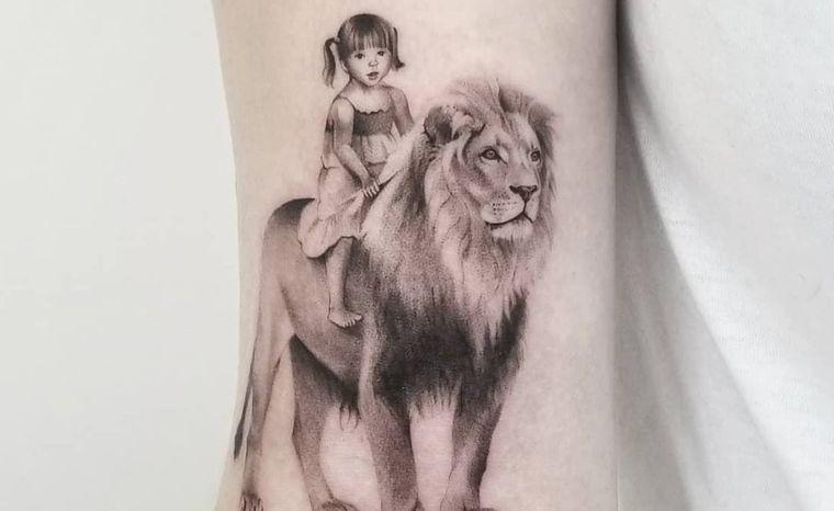 tatuajes de leones guia