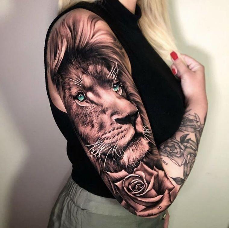 tatuajes de leones hermoso