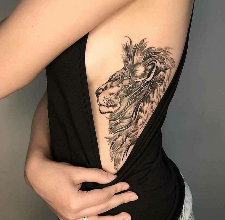 tatuajes de leones imponente