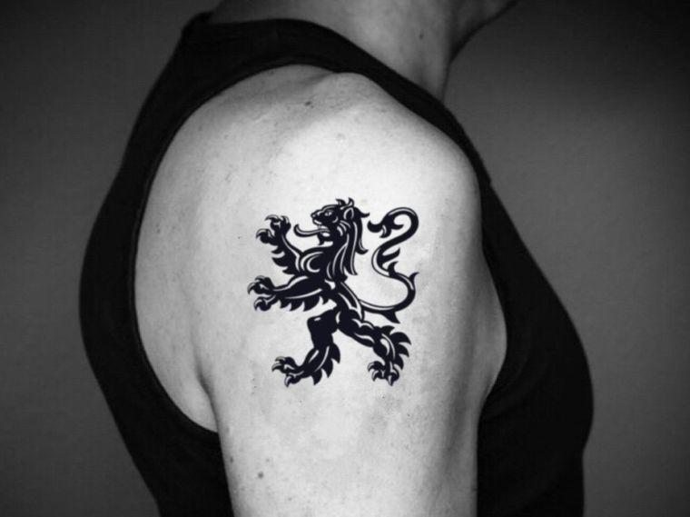 tatuajes de leones japones