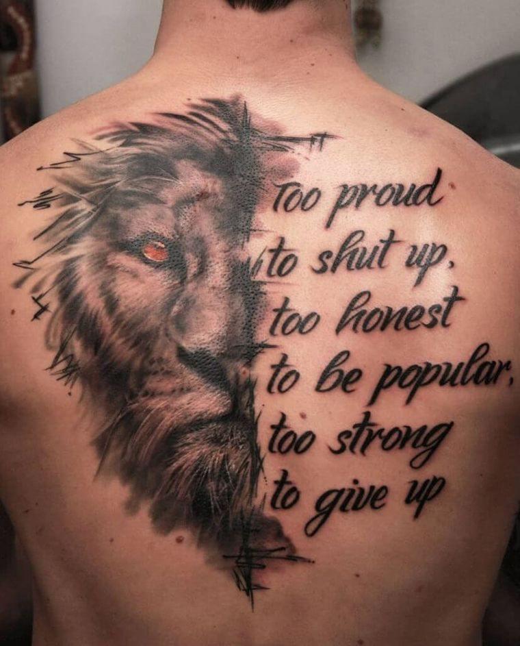 tatuajes de leones leyenda