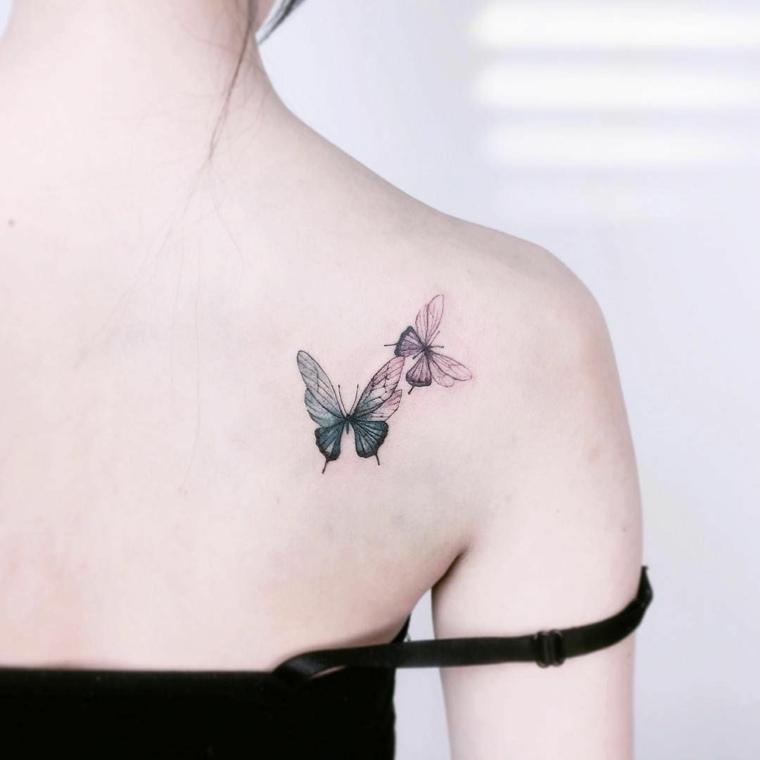 tatuajes-de-mariposas-clavicula-ideas