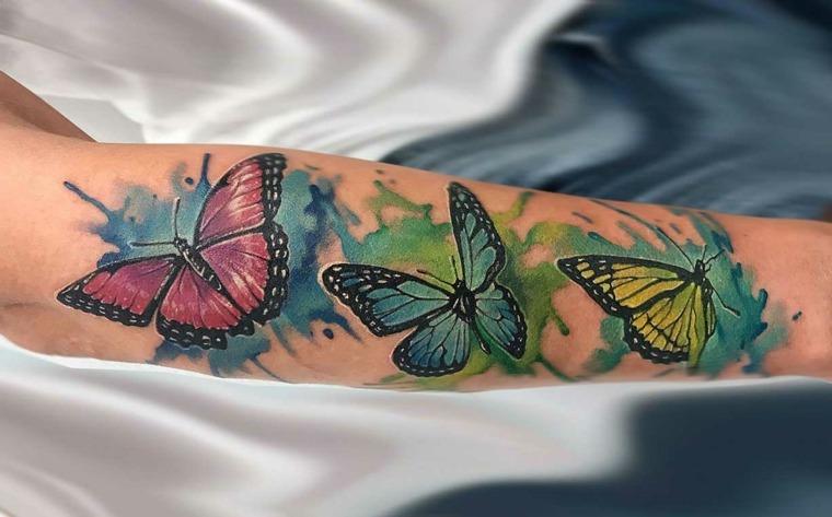 tatuajes-de-mariposas-motivos florales