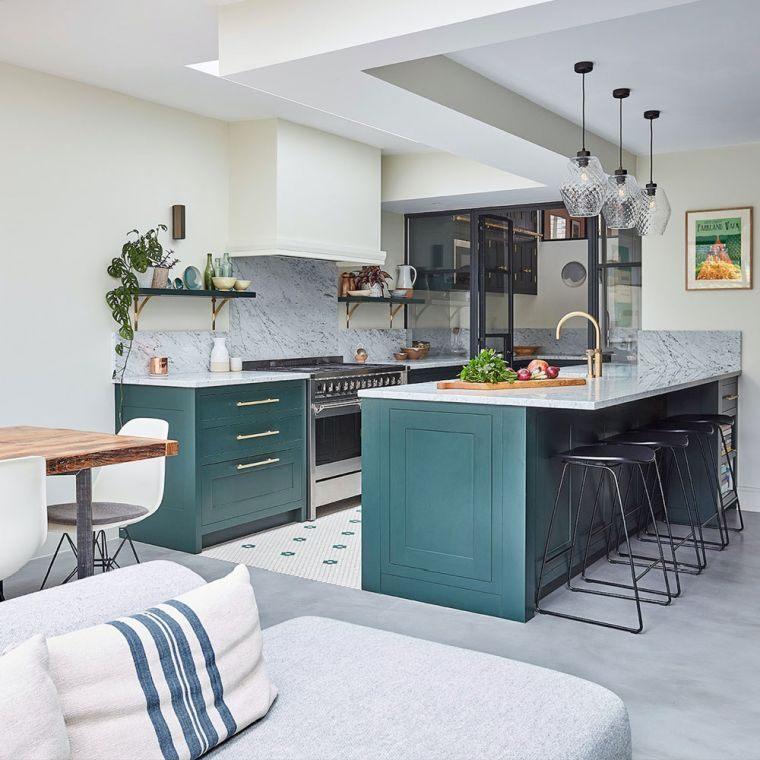 tendencias-2020-cocinas-modernas-muebles-verdes
