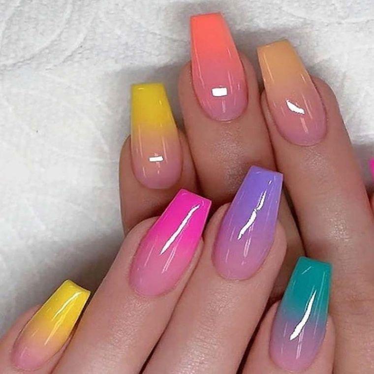 tipos de manicura arcoiris