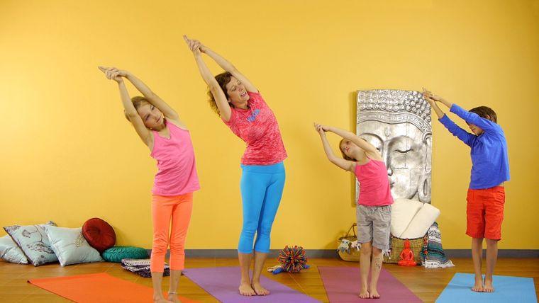 yoga para niños coordinacion