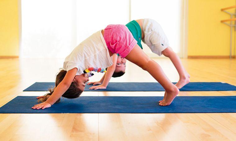 yoga para niños practica