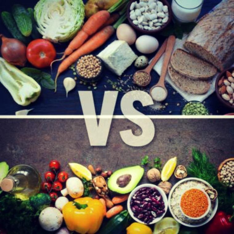 Dieta basada en vegetales y alimentos integrales v.s. dieta puramente vegana