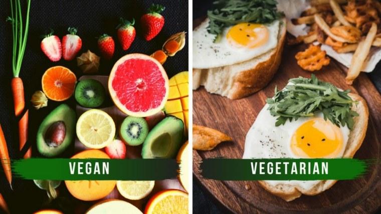 dieta vegana vs vegetariana