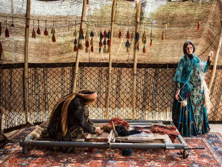 alfombras orientales artesania